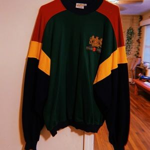 Vintage primary color mad dog pullover